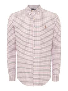 Slim Fit Checked Stretch Oxford Shirt