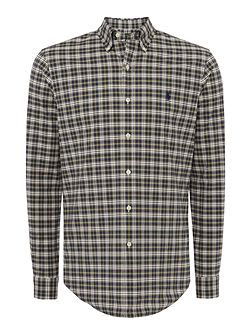 Slim Fit Tartan Stretch Oxford Shirt
