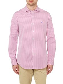 Custom Fit Stripe Stretch Poplin Shirt