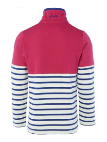 Girls Spotted Half Zip Funnel Neck Sweatshirt