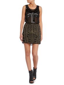 Label Lab Beaded tribal skirt