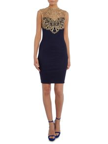 Lipsy Cap Lace Top Bodycon Dress