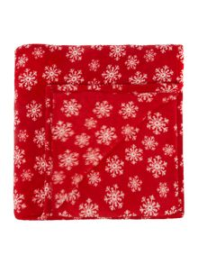 Linea Snowflake Red Fleece