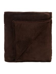 Chocolate Fleece Throw