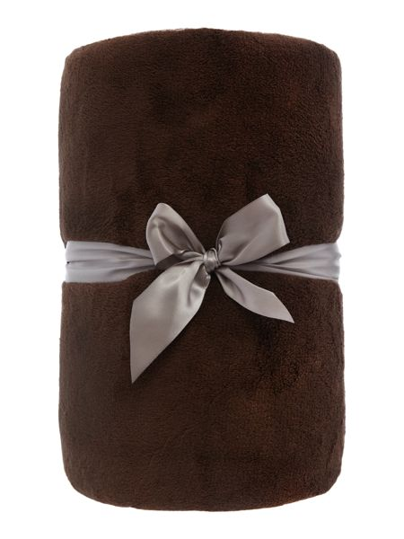 Linea Chocolate Fleece Throw
