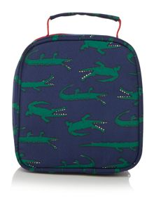 Boys Crocodile Print Lunch Bag And Lunch Box