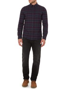 Criminal Ronnie Dark Check Long Sleeve Shirt