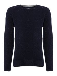 Criminal Ennis Pattern Crew Neck Jumper