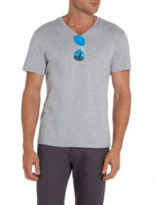 Sunglasses Graphic V Neck T-Shirt