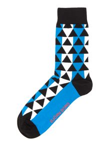 Geo Print Trainer Socks