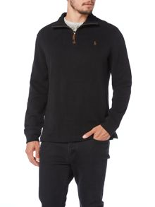 Plain Half Zip Pull Over Jumper