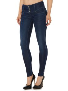 Salsa Mystery push up skinny jean in dark wash