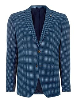Tailored Fit Foulard Pattern Blazer