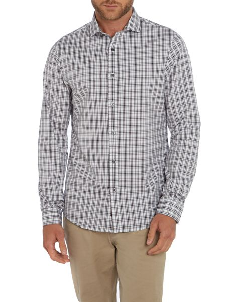 Michael Kors Slim Fit Long Sleeve Check Shirt