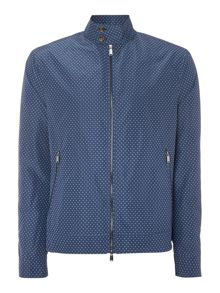 Michael Kors Showerproof Diamond Print Zip Up Harrington Jacke