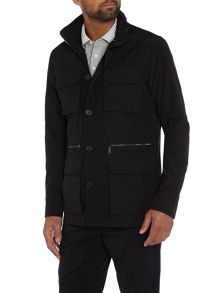 Four Pocket Double Zip Up Utility Jacket
