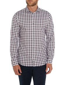 Michael Kors Hunt Slim Fit Long Sleeve Check Shirt
