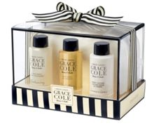 Grace Cole Fresh Linen Bathing Travels Gift Set