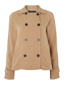 Double Breast Short Trench Coat