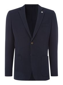 Michael Kors Tailored Fit Mel Pique Casual Blazer