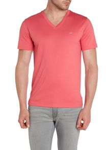 Logo V Neck Regular Fit T-Shirt