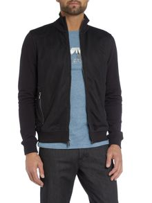 Michael Kors Mesh Front Zip Up Bomber Jacket