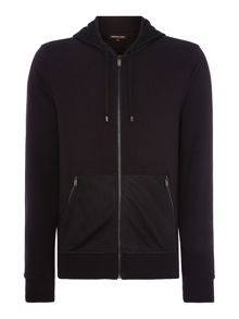 Mesh Pocket Zip Up Hooded Sweatshirt