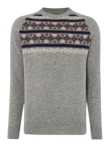 Howick Vancouver Fairisle Patterned Crew Neck Jumper