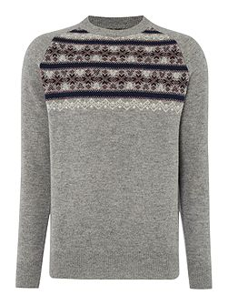 Men's Howick Vancouver Fairisle Patterned Crew Neck Jumper