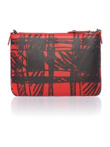 Saffiano tartan red cross body bag