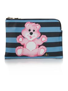 Vivienne Westwood Printed Bear multi coloured pouch