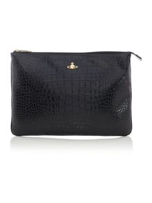 Jungle Croc large black pouch
