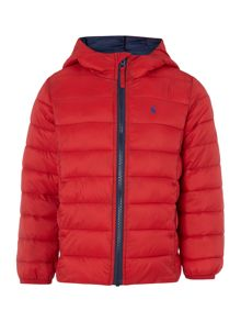 Joules Boys Hooded Padded Pack Away Jacket With Bag