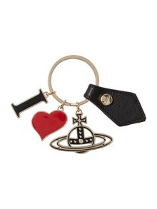I heart orb Black Keyring