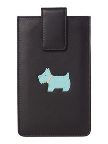 Heritage dog large black iphone case