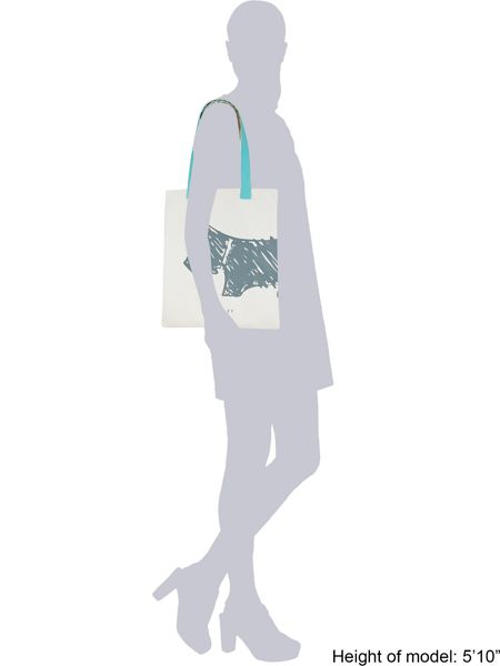 Radley Scribble dog medium blue tote bag