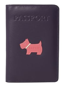Heritage dog navy passport cover
