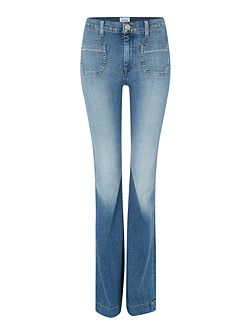 Taylor high waist flare jean in hot springs