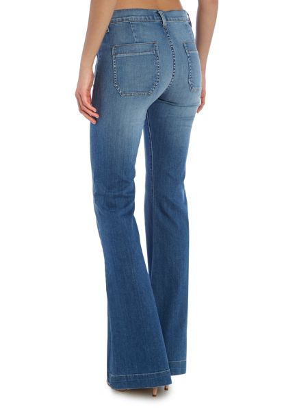 Hudson Jeans Taylor high waist flare jean in hot springs