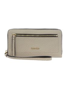 Cecile neutral large zip around purse