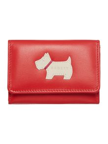 Heritage dog red credit card holder