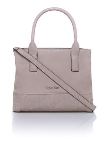 Maddie neutral mini tote bag with cross body