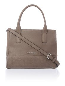 Maddie taupe mini tote bag with cross body