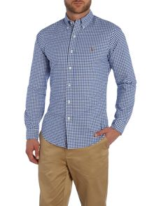 Slim-Fit Checked Oxford Shirt