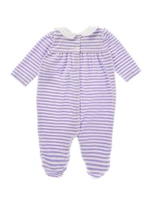 Girls Velour Stripe All In One