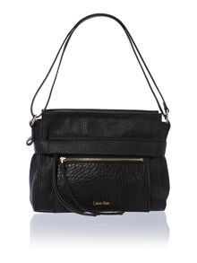 Cecile black medium shoulder bag