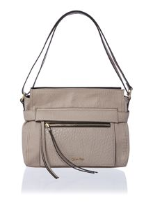 Cecile neutral medium shoulder bag