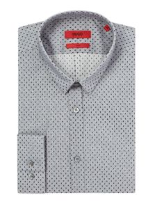 Hugo Ero3 Slim Fit Rectangular Dot Shirt