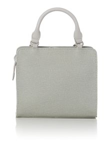 Clerkenwell park grey flapover tote bag