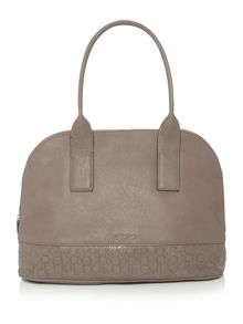 Maddie taupe large dome satchel bag